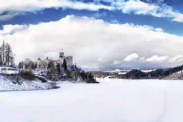 Niedzica Zamek Zima